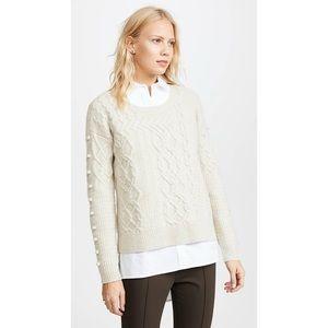 Madewell Open-Side Bobble Merino Wool Sweater M